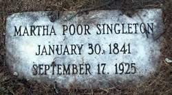 Martha <i>Poor</i> Singleton