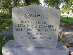 Etta M. B. Alexander