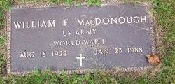William F MacDonough