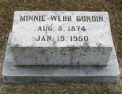 Minnie <i>Webb</i> Gordin