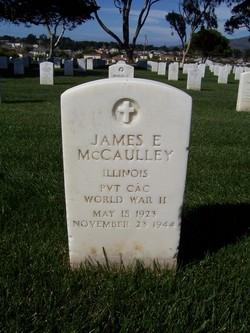 Pvt James Edward McCaulley