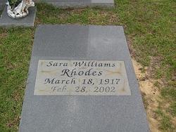 Sara <i>Williams</i> Rhodes