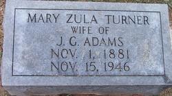 Mary Zula <i>Turner</i> Adams