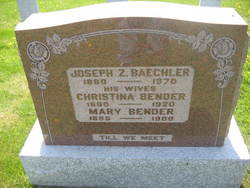 Mary <i>Bender</i> Baechler