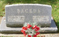 Mary M <i>Burton</i> Backus