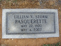 Lillian V <i>Tressler Storm</i> Pasquerette