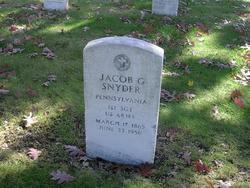 1st Sgt Jacob G Snyder