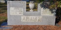 Annie <i>Barnes</i> Adams