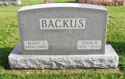 Mary J <i>Sommers</i> Backus
