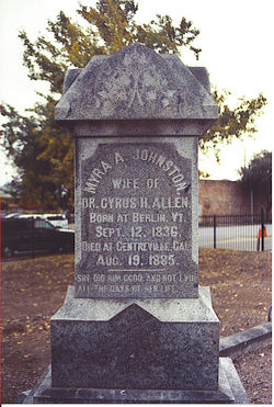 Myra A. <i>Johnston</i> Allen