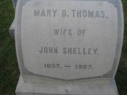 Mary D <i>Thomas</i> Shelley