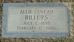 Allie <i>Snead</i> Billups