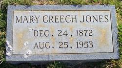 Mary <i>Creech</i> Jones