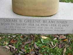 Sarah B. <i>Greene</i> Blanchard