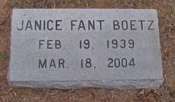 Janice <i>Fant</i> Boetz