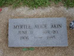 Myrtle Alice Akin