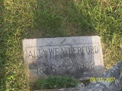 Alta <i>Anderson</i> Weatherford