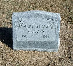 Mary Jane Elizabeth <i>Straw</i> Reeves