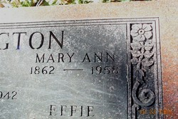 Mary Ann <i>Butler</i> Burlington