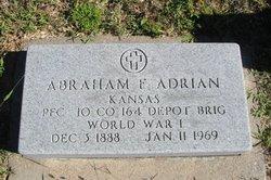 PFC Abraham F. Adrian