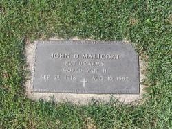 John D Malicoat