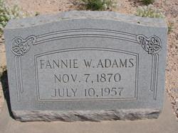 Francis Wright Fannie <i>Arnold</i> Adams
