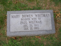 Mary R <i>Bowen</i> Whitman
