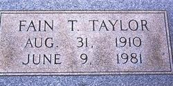 Fain T Taylor
