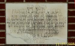 Old Union Primitive Baptist