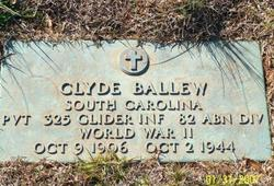 Pvt Clyde Ballew