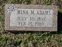 Mina May <i>Henninger</i> Adams