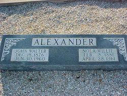 Nola Willie Alexander