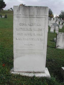 Cora <i>Merriam Bartholomew</i> Bancroft