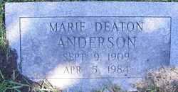 Dorothy Marie <i>Baker</i> Anderson