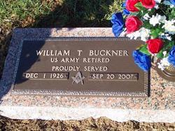 Sgt William Thomas Avner Buckner