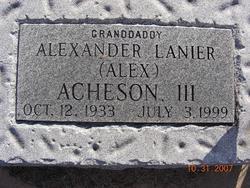 Alexander Lanier Acheson, III