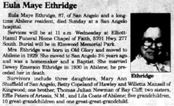 Eula Maye <i>Newman</i> Ethridge