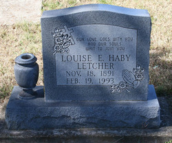 Louise E. <i>Haby</i> Letcher