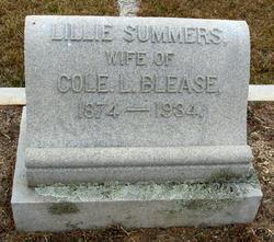 Lillie B. <i>Summers</i> Blease