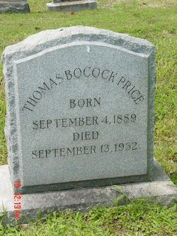 Thomas Bocock Price