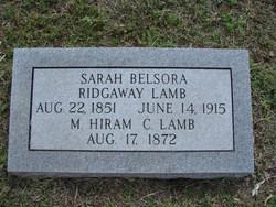 Sarah Belsora <i>Ridgaway</i> Lamb