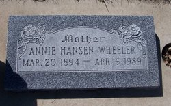 Annie Olsen <i>Hansen</i> Wheeler
