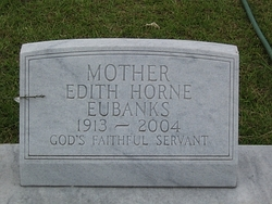 Edith McLoud <i>Horne</i> Eubanks