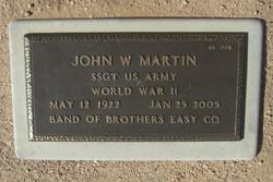 Sgt John W. Johnny Martin
