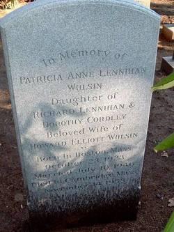 Patricia Ann <i>Lennihan</i> Wulsin