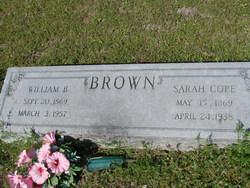 Sarah <i>Cope</i> Brown