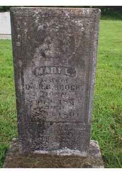 Mary Lucretia <i>Brown</i> Brock