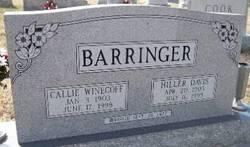 Callie <i>Winecoff</i> Barringer