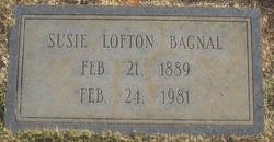 Susie <i>Lofton</i> Bagnal