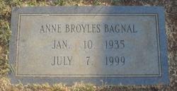 Anne <i>Broyles</i> Bagnal